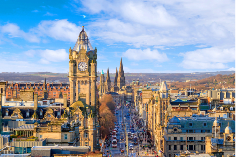 Scotland city in the daytime.
