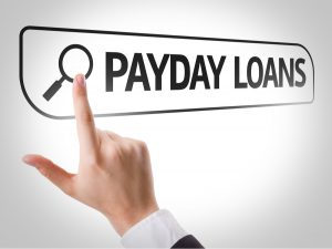 Search engine bar with payday loans in it.
